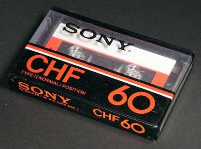 SONY/CHF カセットテープ