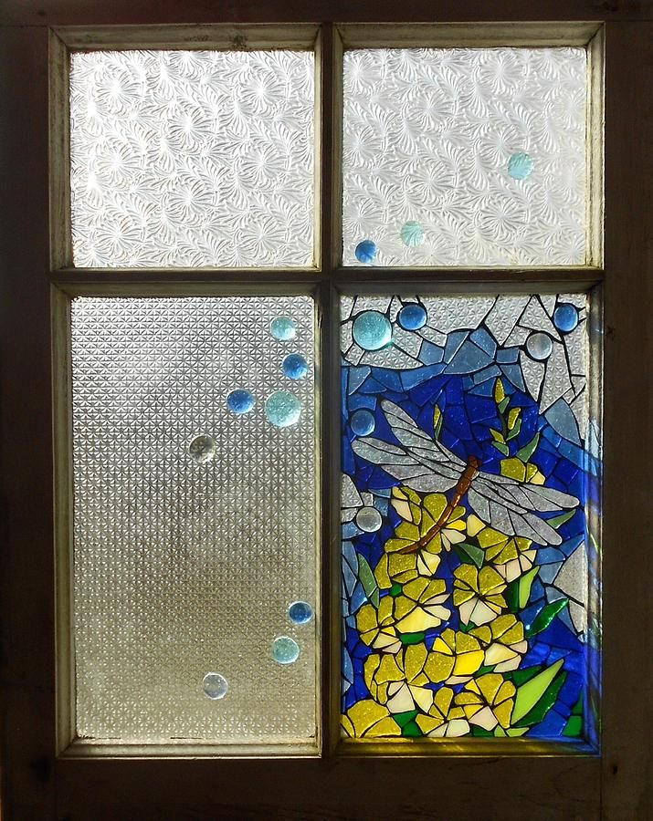 Mosaic Stained Glass - Dragonfly In The Window Glass Art