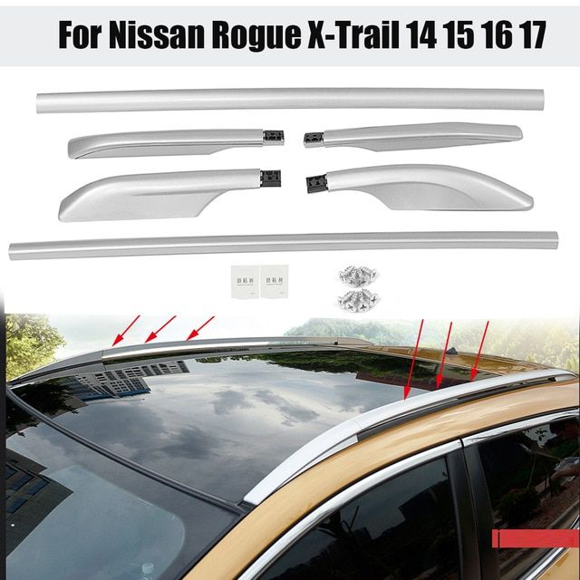 1 Set Car Roof Rack Side Rails Luggage Carrier Bar Roof Vertical Rod For Nissan Rogue X Trail 2014 2015 2016 2017 Review Car Roof Racks Aluminum Roof Nissan