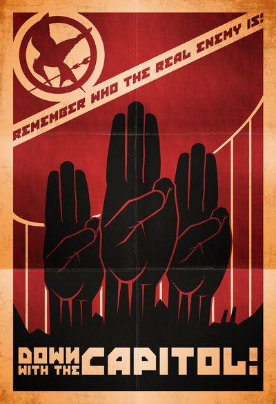 Down With The Capitol - Propaganda Art Print | Nature ...