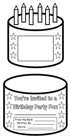 Birthday Cake Book Report Project: templates, worksheets