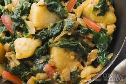 Receita de Espinafre com batatas ao forno em receitas de legumes e verduras, veja essa e outras receitas aqui!