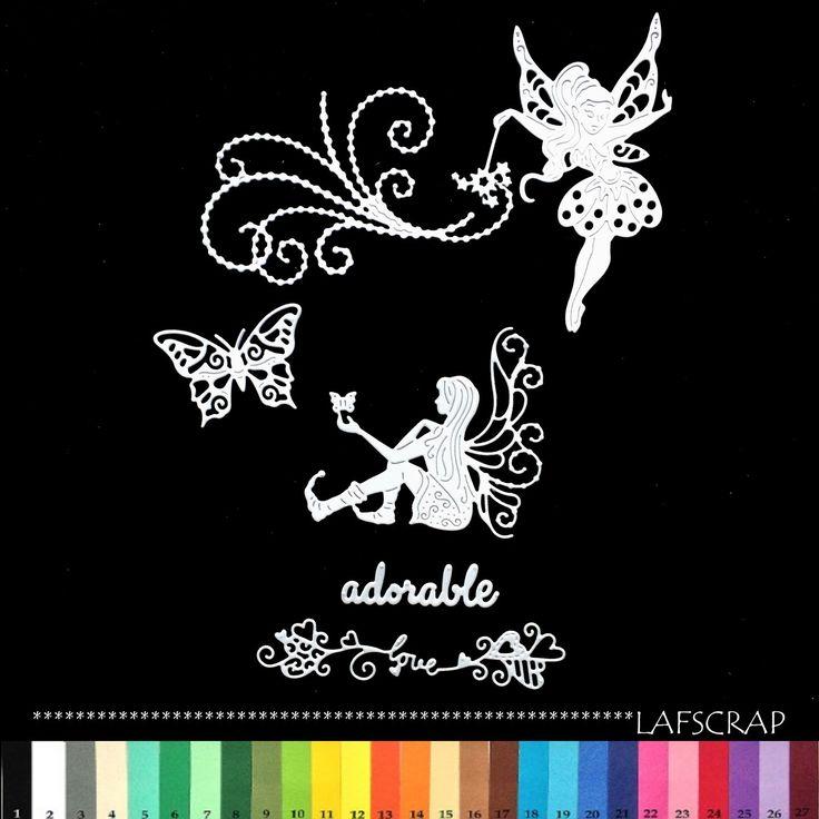 découpes scrapbooking fée baguette magique perle papillon love amour coeur bébé naissance embellissement die cut : Embellissements par lafscrap