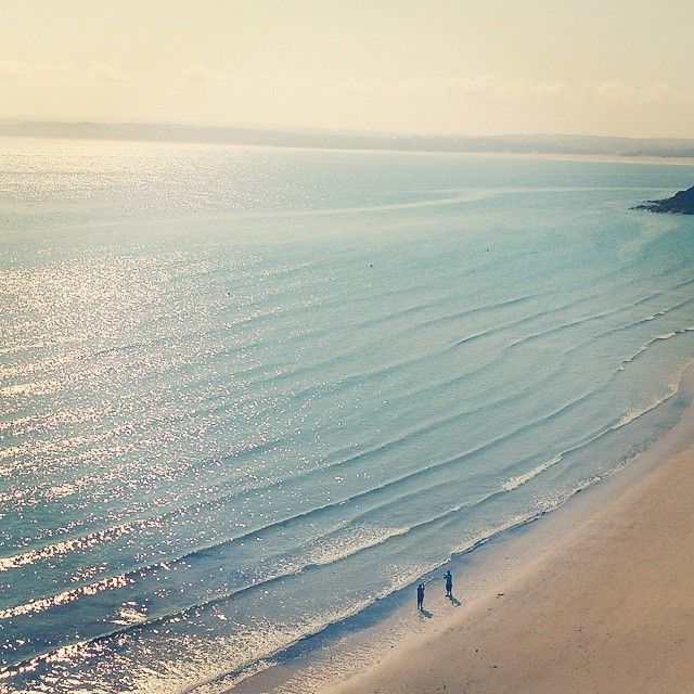 Porthminster Beach, St Ives in the early morning.