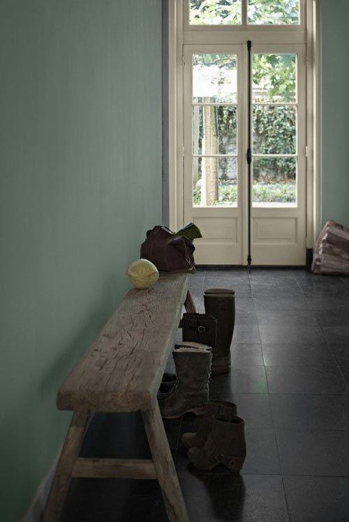 Olijfgroene muur | Huis-inrichten.com