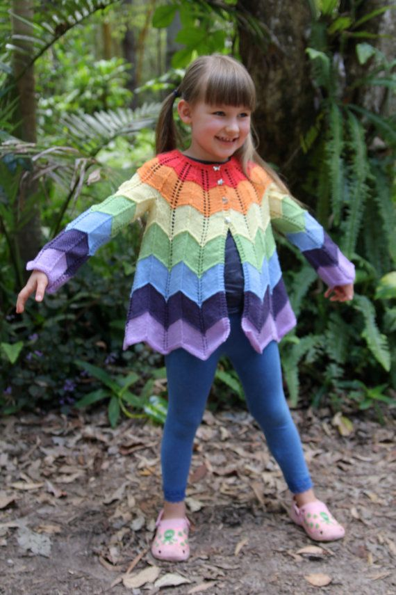 Ziggerzagger Jacket - KNITTING PATTERN - downloadable file on Etsy, $4.72
