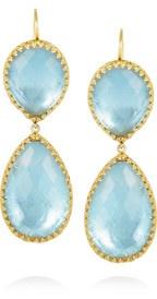 Larkspur & HawkCeleste 22-karat gold-dipped topaz drop earrings