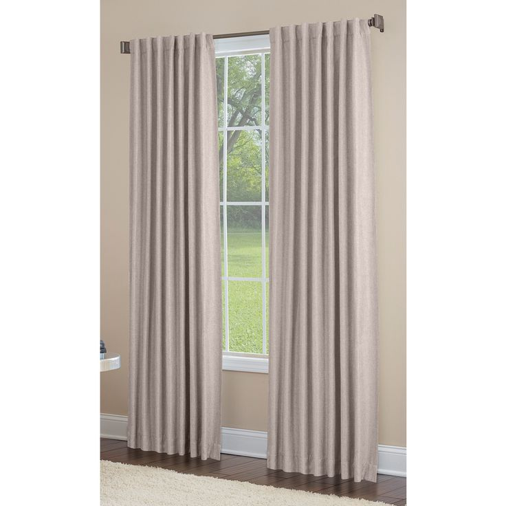 Allen + Roth Gatton 95 In Linen Polyester Back Tab Room Darkening Single  Curtain Panel  Allen Roth Curtains