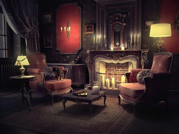 Living room decorating in traditional English style.Отделка гостиной в традиционном английском стиле. 客厅以传统英式风格装饰。