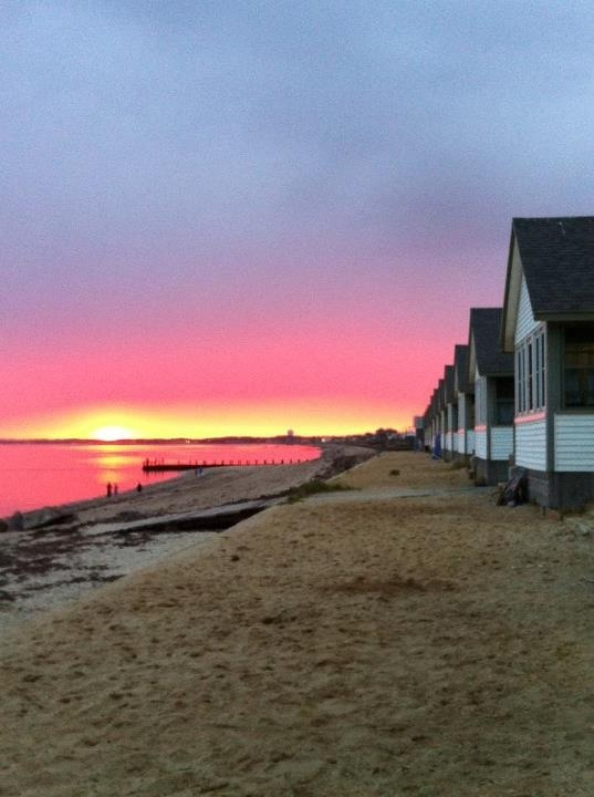 Sunset at Days Cottages, N. Truro MA