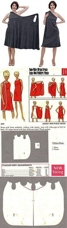Vestido Simples para a casa - um padrão encontrado | Varvarushka-Needlewoman
