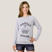Daddy's little princess- Silver Sweatshirt