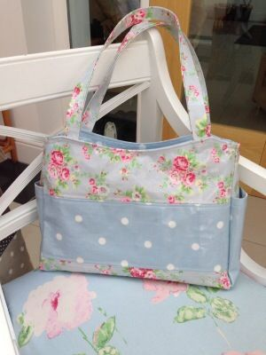 My new bag made with Cath Kidston oilcloth