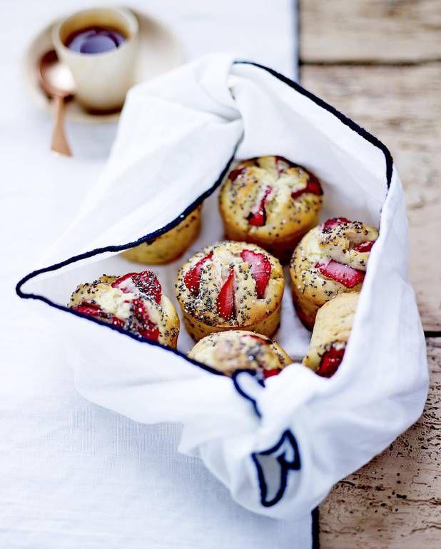 Muffins aux fraises et graines de chia pour 6 personnes - Recettes Elle à Table