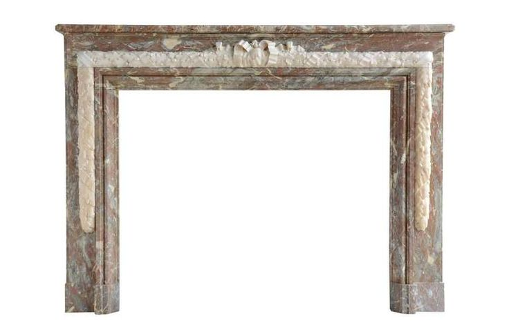 French Louis the 16th style red marble fireplace dated late 19th century
