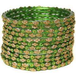 Green Bangles Chura - Srawan Specials