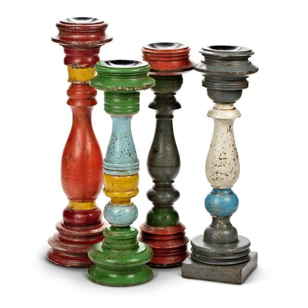 Create a colorful vintage paradise right in your own home or backyard! Our Rustic Wood collection of Candle Holders