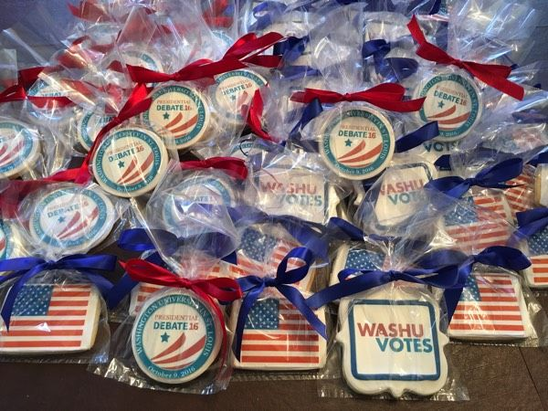 Presidential Debate 2016 thank you Washington University! - See more of our cookies at http://www.ctcookietreats.com