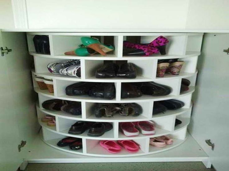 hat and shoe rack with eound design