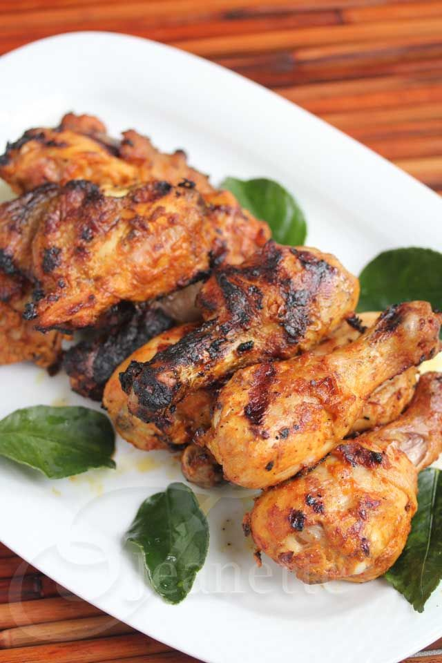 Smoked Red Curry Coconut Chicken Marinated in Greek Yogurt Recipe - Jeanette's Healthy Living