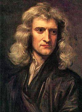 Isaac Newton (1643-1727) was een Engelse wiskundige,astronoom , natuurkundige,alchemist en natuurfilosoof. toen Isaac Newton op een dag onder een appelboom lag en een appel viel begon hij te denken. waarom viel de appel wel maar de maan niet op de aarde?via andere theorieen berekende hij dat rond de aarde ook zwaartekracht is. dit zorgt ervoor dat we niet van de aarde vallen. hij stelde een natuurwet op: een algemene geldende regel in de natuur dat steeds terugkomt.