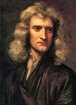 Woolsthorpe, Isaac Newton is geboren op 4 januari 1643. Op een dag dacht hij waarom valt de appel wel van de boom maar wij niet van de aarde? Via enkele bestaande theorieën kon hij berekenen (deductie) dat door de baan die de maan om de aarde maakte. De maan niet naar beneden kwam, maar in zijn baan bleef .Daarmee had hij ontdekt dat er ook buiten de aarde zwaartekracht bestond. zo had hij een algemeen geldende natuurwet opgesteld. hij stierf op 31 maart 1727