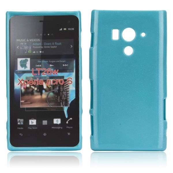 Glitter Shell (Sininen) Sony Xperia Acro S Silikonisuojus