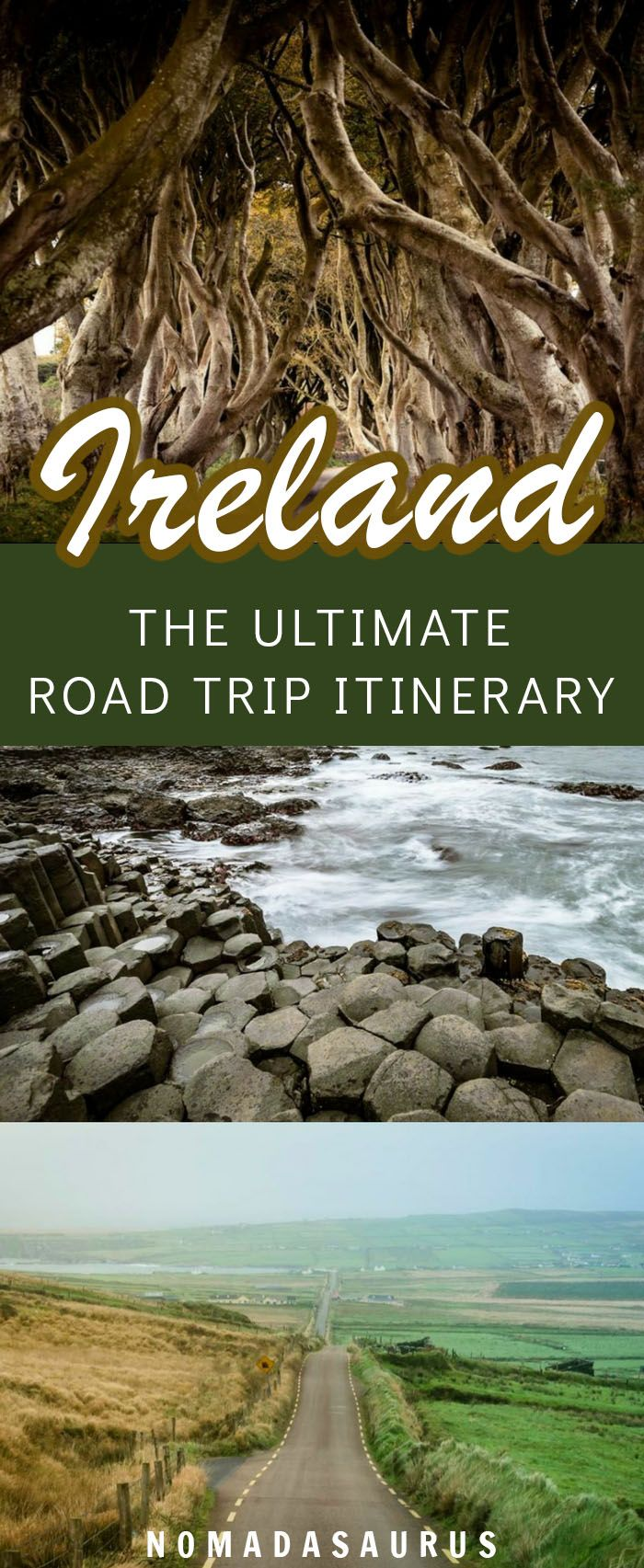 From the Wild Atlantic Way to the Ring of Kerry to the Dark Hedges and more, here's the perfect travel itinerary for Ireland. #ireland #roadtrippin