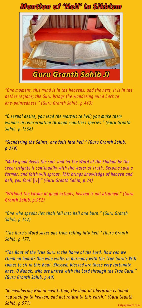 Mention of Hell in Sikhism