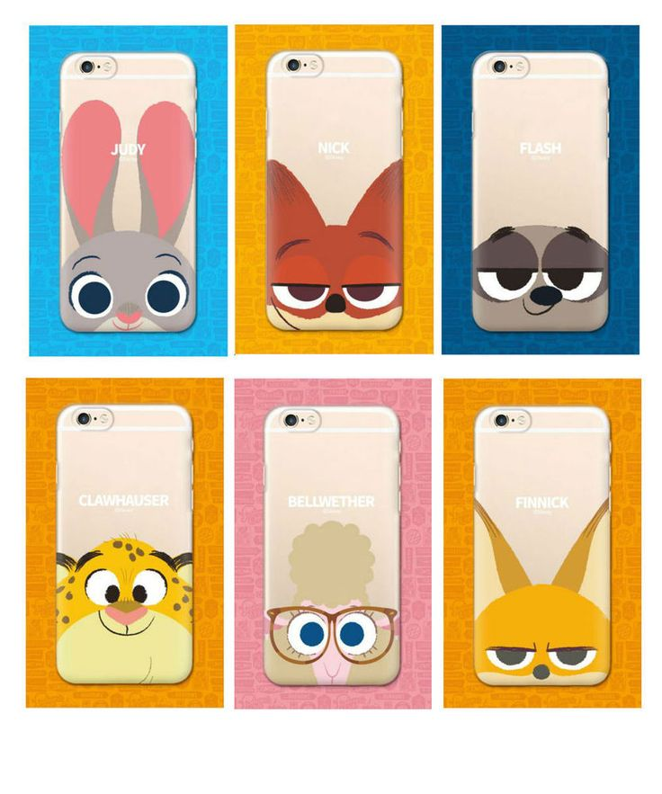 DISNEY ZOOTOPIA iPhone 6/6S/Plus Cute Cell Phone Soft Jelly Case Cover Protector #Disney