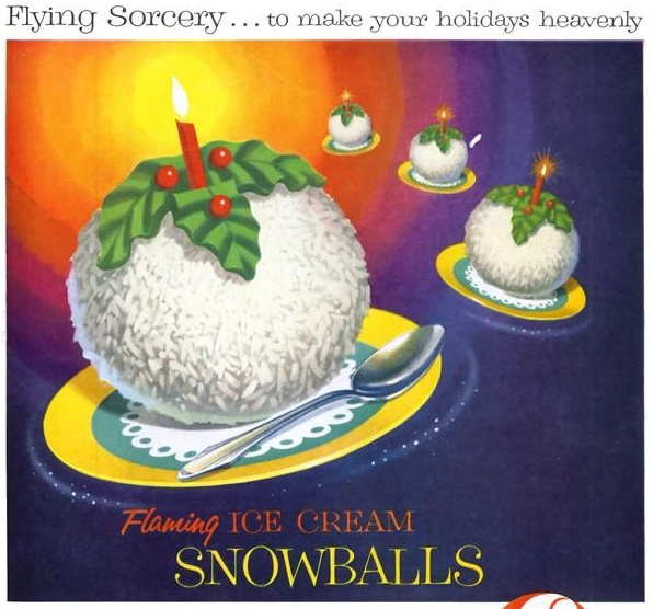 Cares ice cream snowballs that you just stick a candle in yes