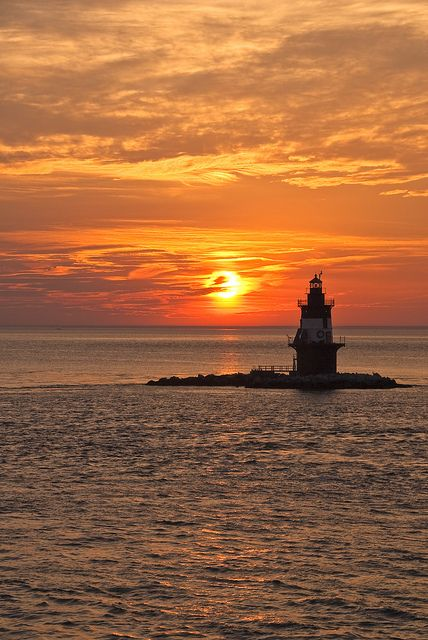 *Lighthouse - Orient Point Sunset, Long Island, New York