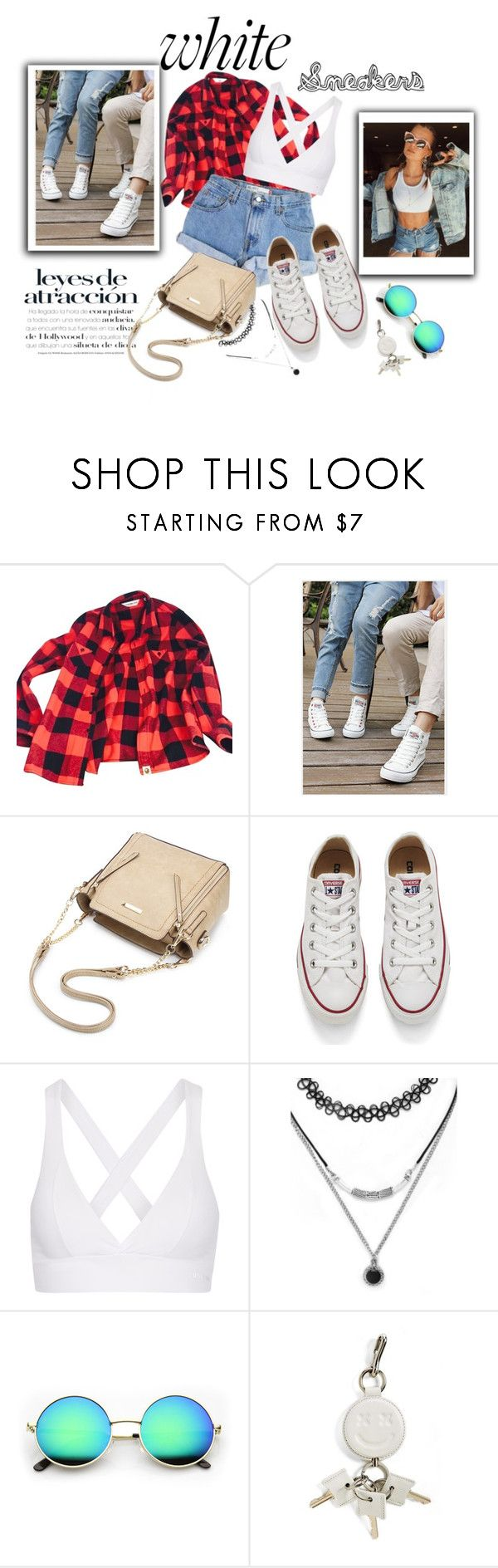 """""""White Sneakers"""" by smajicelma ❤ liked on Polyvore featuring A BATHING APE, Levi's, Renben, Converse, Bodyism, Forever 21 and Alexander Wang"""