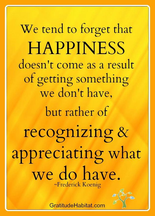 Recognizing and appreciating what we do have. www.GratitudeHabitat.com