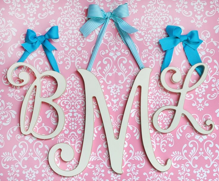 Beautiful Cursive Wall Letters for a nursery or girl's room!