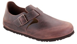 Birkenstock shoes - style London. I have pair just like these. Been wearing them since 1995. When the sole wears, just take to your local shoe repair store and have them resoled. Good to go for about another 2-3 years.  Sue