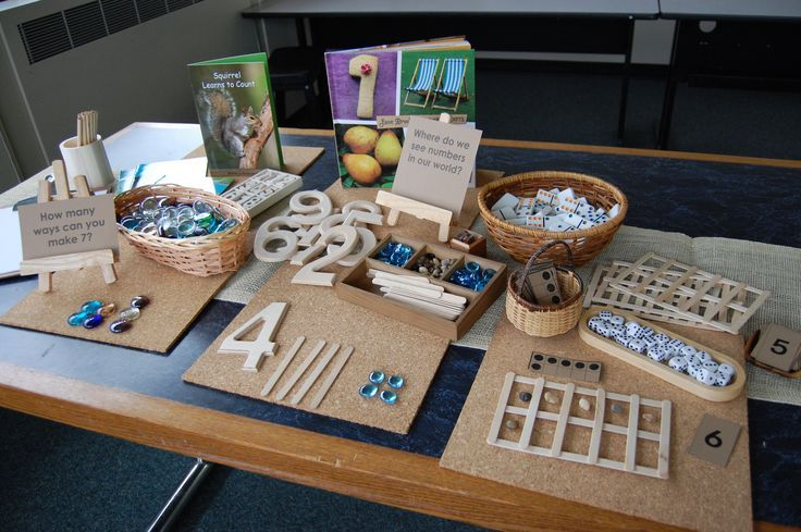 Here's a great example of a number station designed for math play.