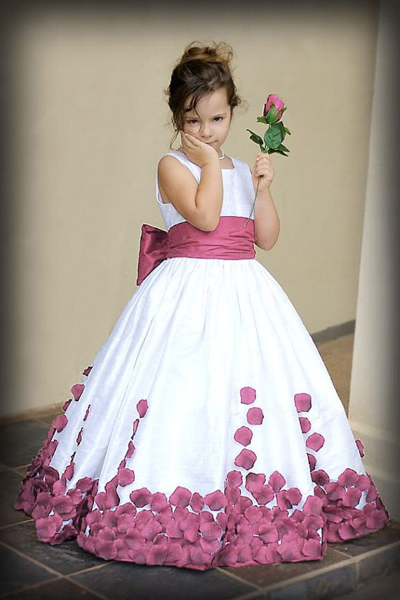 Silk Dupioni Rose Petal Gown Custom Size/Colors