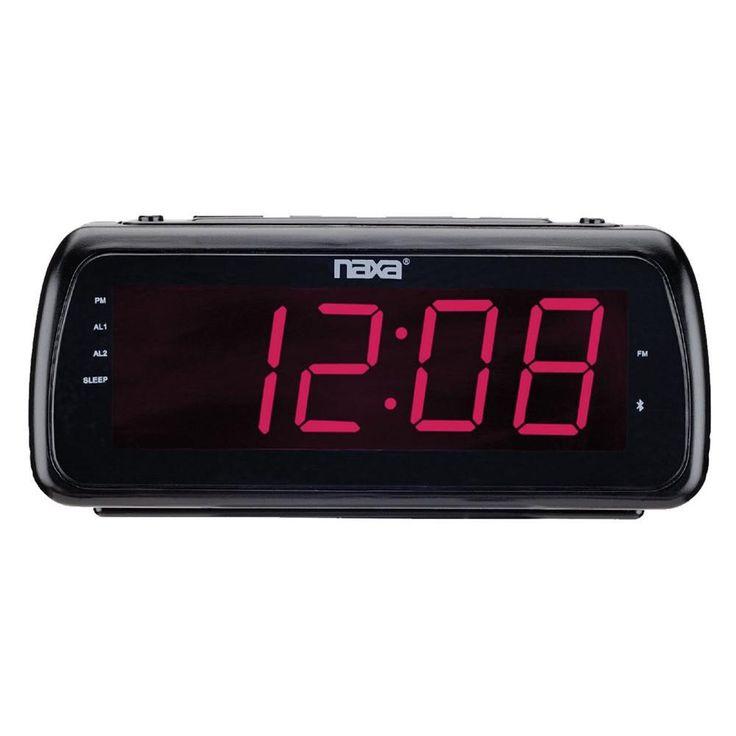 Naxa Easy-Read Dual Alarm Clock Radio with USB Charge Port