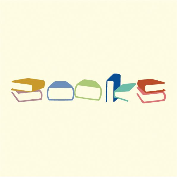 Great way to make type unique and creative, I love how the book images are used to create the word books!