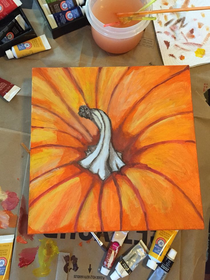 Pumpkin canvas painting Art Instagram page: @myself_on_paper