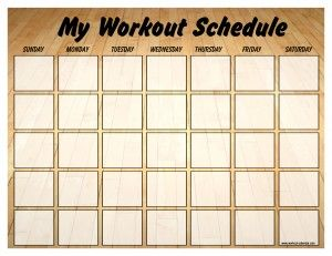 Maintenance schedule template gym