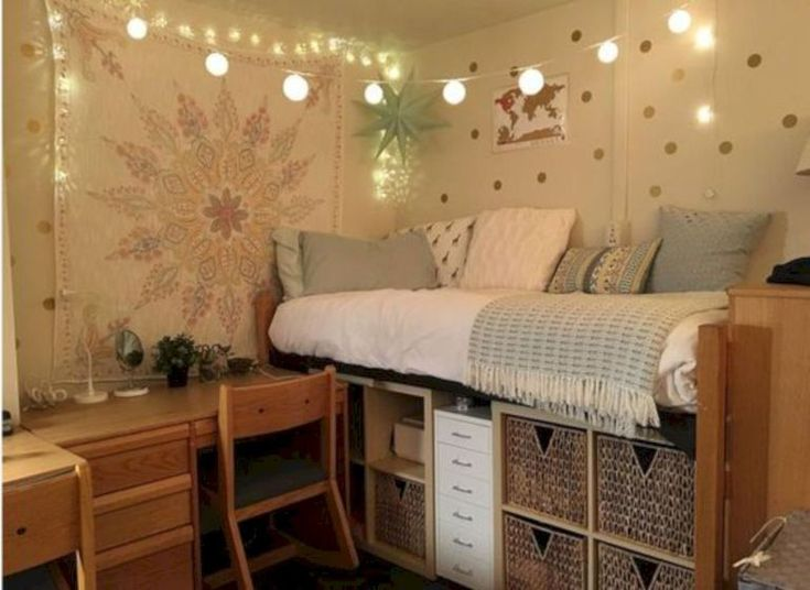 Cool Ways To Set Up Your Dorm Room Lofted Bed
