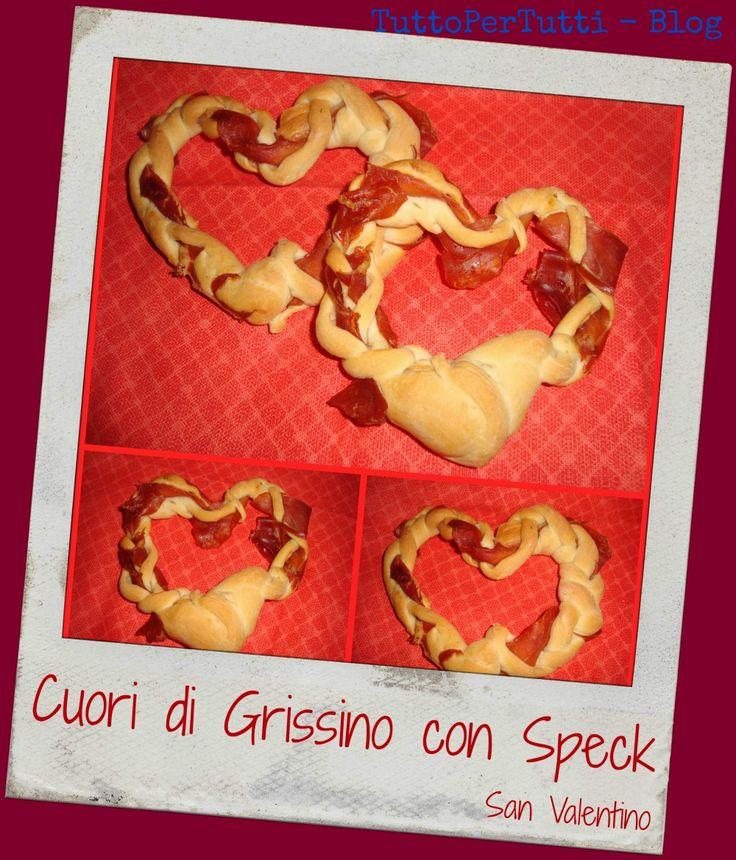 TuttoPerTutti: CUORI DI GRISSINO CON SPECK - S.Valentino. Il pane romantico di S.Valentino! <3