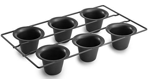 """Bellemain 6 Cup Nonstick Popover Pan - If you've been disappointed with the flat, heavy popovers and Yorkshire puddings you get using regular muffin pans, it's not your fault; it's your pan's. Discover the difference the Bellemain Popover Pan can give you in achieving dramatically better results with minimum effort. 2.25""""D Cups Promot..."""