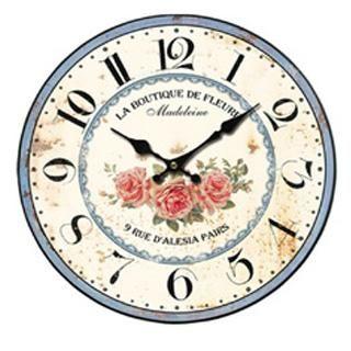 Nástěnné hodiny vintage - LA BUTIQUE DE FLEURES