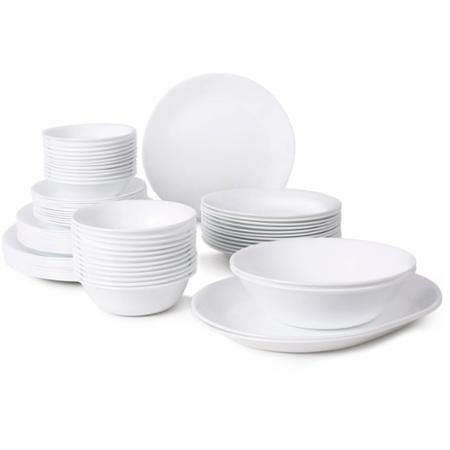Corelle Livingware 76-Piece Dinnerware Set--$189.97 for 12 each of dinner plates, lunch plates, appetizer plates, 18 oz bowls, 15 oz bowls, 10 oz dessert bowls plus two serving bowls and two serving platters
