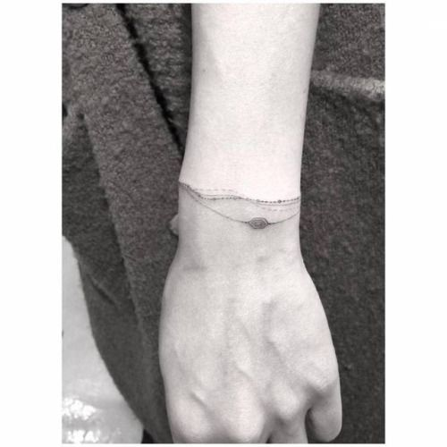 Top 15 Bracelet Tattoo Designs With Pictures: 17 Best Ideas About Single Needle Tattoo On Pinterest