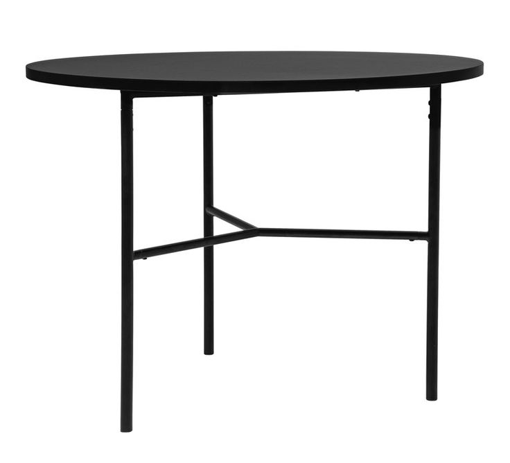 Bloomingville Type Spisebord - Elegant og enkelt spisebord fra Bloomingville. Bordet har 3 metal ben og bordplade i melamin. Ideelt til dig, der ønsker en minimalistisk stil i din spisestue.