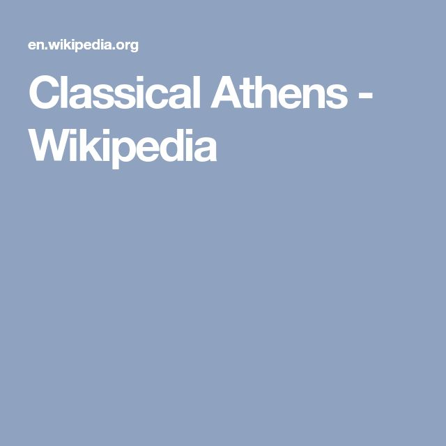 Classical Athens - Wikipedia